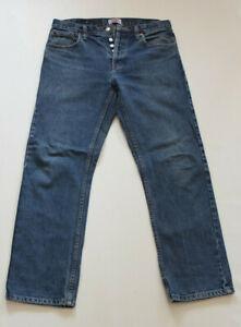 LEVI'S 501 Original Coupe Bouton - Fly Jeans W 32 L 30 Top Bleu ( )