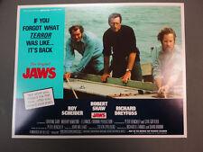 JAWS 4 LCs R79 Roy Scheider, Robert Shaw, Richard Dreyfuss,  Spielberg CLASSIC