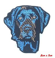 Blue Labrador dog animal badge Iron Sew on Embroidered Patch #644