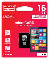 GOODRAM Speicherkarte 16GB MicroSDHC Nintendo 3DS XL für Modul R4i 3DS Neu
