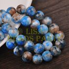 Hot 20pcs 12mm Round Charms Glass Loose Spacer Beads Deep Blue Colorized