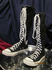 Converse All Star Chuck Taylor Knee High Sneaker Boot Lace Up Zip Back Sz 8.5