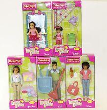 5 Fisher Price Loving Family Hispanic Dolls Mom Dad Grandma Sister Toddler NEW
