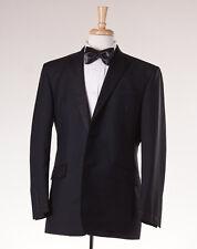 NWT $1600 BROOKS BROTHERS BLACK FLEECE Wool-Mohair Tuxedo Slim 46 R BB5 Suit