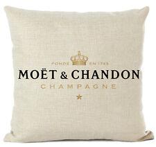 Kissenhülle Kissenbezug Baumwolle Motivkissen Champagner Moet & Chandon Logo