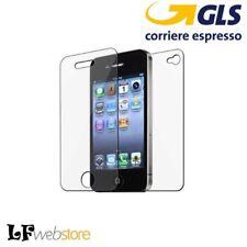 Pellicola Vetro Temperato Screen Protector fronte Retro per Apple iPhone 4/4s