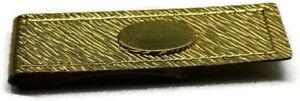 Money Clip Gold Tone Engravable Credit Card Cash ID