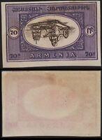 Armenia 1920 100 mint inverted center imperf . rt398