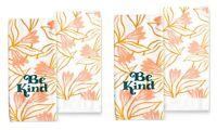 Celebrate Spring Together Kitchen Dish Towels BE KIND 4-Piece Set NEW