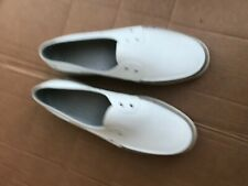 Native Boat shoes off white w/ gray UNISEX size MENS 9 OR WOMENS 11