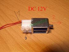 DC 12V Miniature Solenoid Valve Electric Control Exhaust Valve 2 Position 3 Way