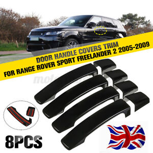 Gloss Black Door Handle Covers Trim For Range Rover Sport Discovery 3 2005-2009