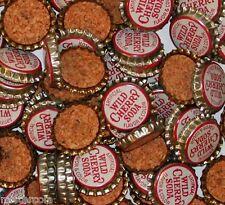 Soda pop bottle caps Lot of 25 WILD CHERRY SODA cork lined unused new old stock