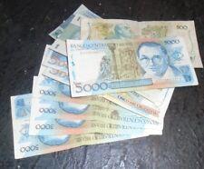 lot Brazil bank notes sum face value 35,502 Cruzados