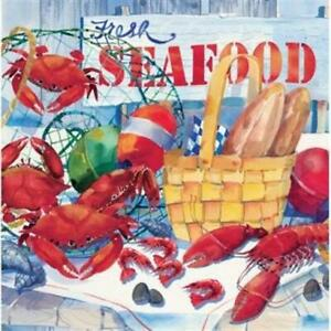 Seafood Celebration Lunch Napkins 16 Pack Nautical Cruise Party Birthday