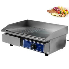 Commercial Electric Griddle Countertop Kitchen Hotplate Stainless Steel 3000w