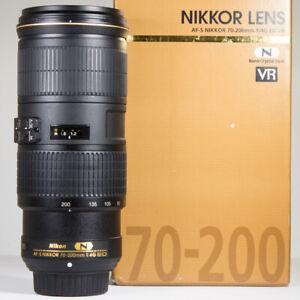 Nikon 70-200mm f/4 AF-S G ED VR Telephoto Zoom Lens Boxed