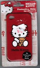 NEW IN BOX Hello Kitty Sanrio iPhone 4 Protective Skin CASE Red Soft