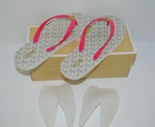 Michael Kors MK Flip Flop Shiny PVC/Mini Jet Set 9M Ultra Pink New With Box