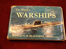 "OLD VTG 1960 WORLD NAVY BOOK ""THE WORLD'S WARSHIPS"", BY RAYMOND V.B. BLACKMAN"