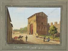 """""""Veduta della Porta a S.Frediano"""" by Giustino Carocci (b.1829), ca. 1850"""