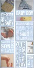 BABY BOY Photo Banner Scrapbook Stickers