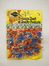 Vintage Display card of 24 Packages of Mini Dinosaurs Mammals