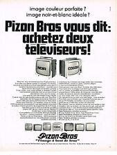PUBLICITE ADVERTISING 014   1969   PIZON BROS   téléviseurs
