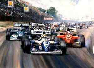 FORMULA 1 GRAND PRIX PAINTINGS ON CD MAKE MONEY from cards prints, keyrings