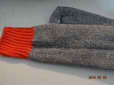 Orange top boot socks with light gray/black leg Size 13-14