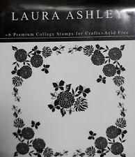 Laura Ashley Wood Mounted Collage Stamps