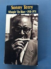 SONNY TERRY WHOOPIN' THE BLUES VHS MOUTH HARP HARMONICA