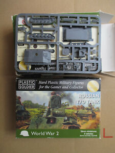 D12C06 CHAR RUSSE T70 x8 PLASTIC SOLDIER (15mm) FoW FLAMES OF WAR WW2