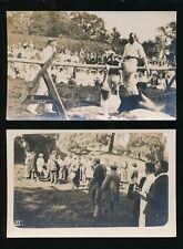 Derbyshire Derbys ALFRETON x2 sports/carnival day c1920/30s? by F Casson
