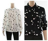 ex-branded Polka Dot Spot Button Pocket Casual Office Versatile Shirt