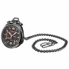 Stuhrling Original 990 05 Torero Quartz Chronograph Mens Black Pocket Watch