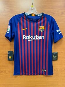 Nike Youth Barcelona FC Stadium Home Soccer Jersey 894458-456 $75 Retail