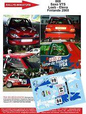 DECALS 1/43 REF 868 CITROEN SAXO SEBASTIEN LOEB RALLYE FINLANDE 2000 RALLY WRC