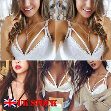 UK Hot Women Lace Floral Bralette Bralet Bra Bustier Crop Top Cami Unpadded Tank