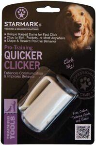 STARMARK Pro Training Quicker Clicker Device Dome Shape Fast Click Pet Dog