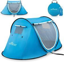 Barraca Pop-up um Automático instantânea Portátil cabana barraca para praia-Para 2 (sky Blue)