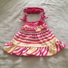 Build a Bear Workshop clothing -  Pink Dress 👗 With Matching Hair Bands - GC