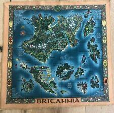 Ultima 9 Britannia Stoff-Karte Map - extrem selten!