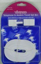 BT Broadband Modem ADSL Router Telephone & Modem Travel Cable Lead 8m