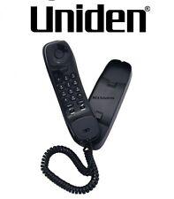 New Uniden SlimLine Black Wall/Desk Mountable Corded Phone Black FP1100