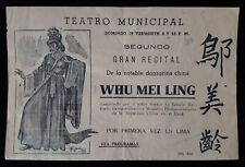 CHINA Peru theatre advertisement chinese dancer Whu Mei Ling 1944 paper document