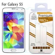 Galaxy S5 Genuine Premium Gorilla Tempered Glass 9H Shield LCD Screen Protector