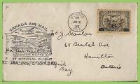 Canada 1935 Kenora - Whitefish Bay, cachet flight cover