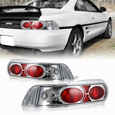 1990-1999 Toyota MR2 Chrome Housing Clear/Red Lens Altezza Style Tail Lights