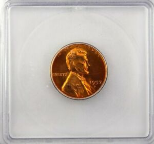 1957-D LINCOLN CENT ICG MS 67 RD LISTS FOR $300!!